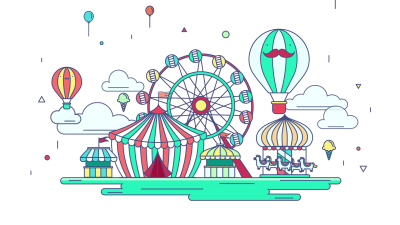 Amusement Park Background PNG