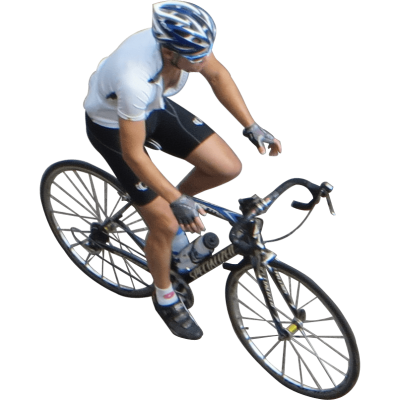 cyclist-top-view