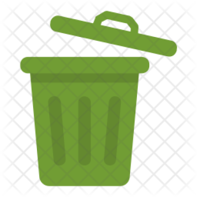 Dustbin Icon of Flat style - Available in SVG, PNG, EPS, AI & Icon ...