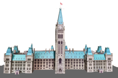 Canadian Parliament Buildings Paper Model - Made In Canada Gifts