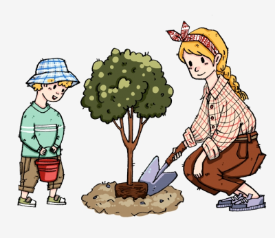 Man Planting Trees, The Man, Planting Trees, Trees PNG and Vector ...