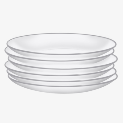 Tall Stack Of White Plates, Dishwasher Material, Plate, Cd Action ...