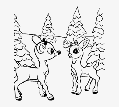 Deer Outline Drawing At Getdrawings - Rudolph And Clarice Drawing ...
