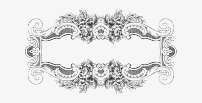 Vintage Ornamental Decorative Flourish Abs - Art Baroque Frame Png ...
