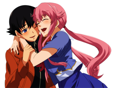 Yukiteru Amano and Yuno Gasai PNG by AnimePNG on DeviantArt