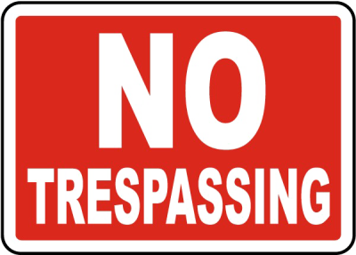 No Trespassing Sign Free Download Image