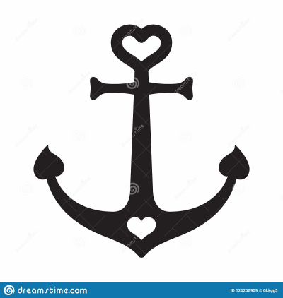 Anchor Vector Icon Boat Helm Heart Logo Nautical Maritime ...