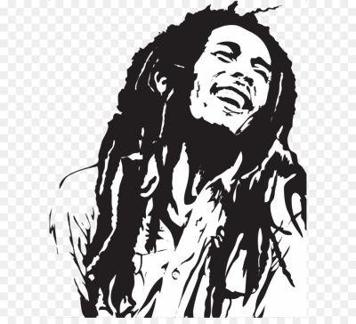 Stencil Art Airbrush Painting Reggae - Bob Marley PNG png download ...