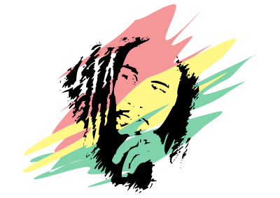 Bob Marley Colors transparent PNG - StickPNG