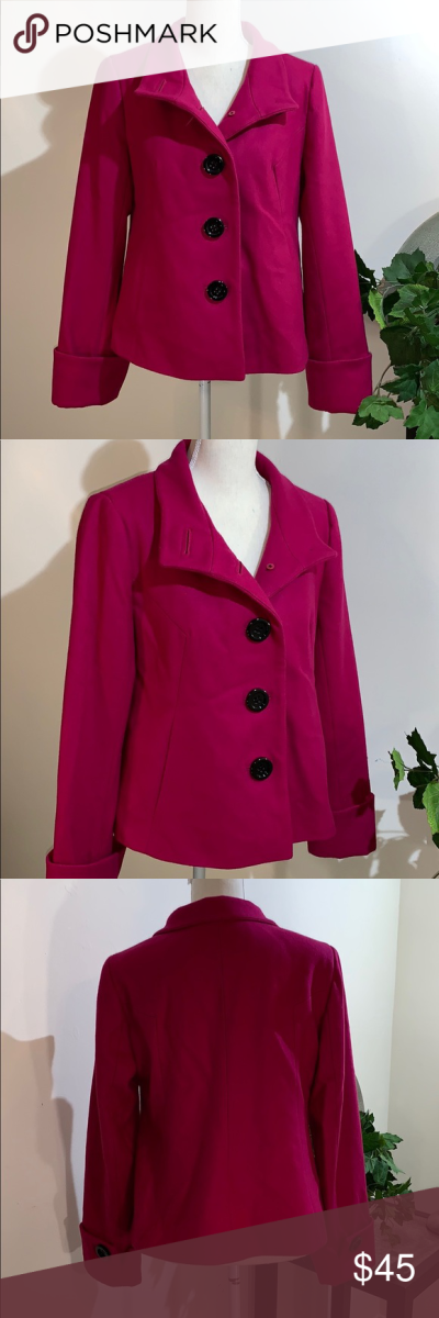 Apostrophe Pea Coat! Adorable pink apostrophe pea coat. Woman's ...