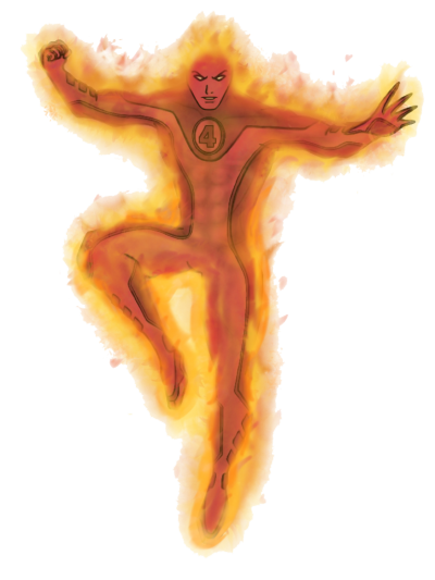 Human Torch Transparent
