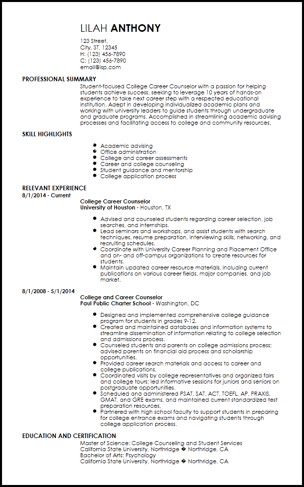 Download Free Png Resume Template For High School Students Free