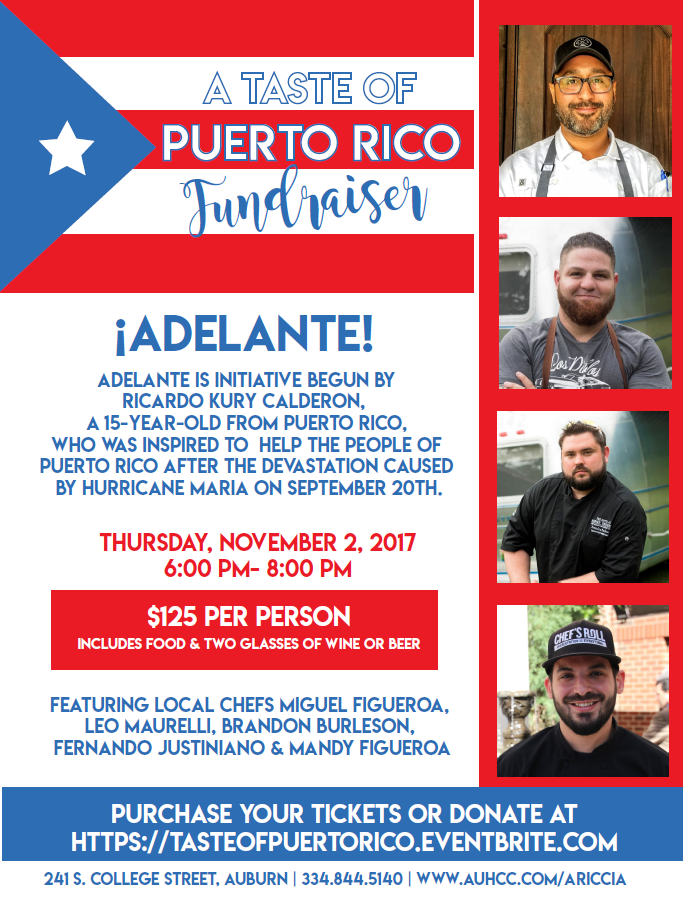A Taste of Puerto Rico Fundraiser at Ariccia — Downtown Auburn