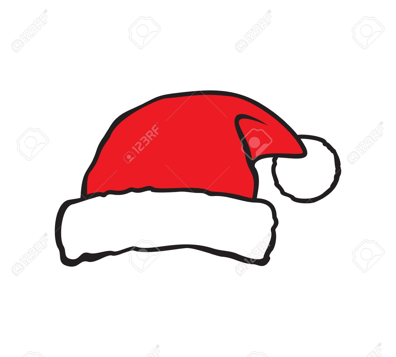 Santa Hat Vector Illustration Royalty Free Cliparts, Vectors, And ...