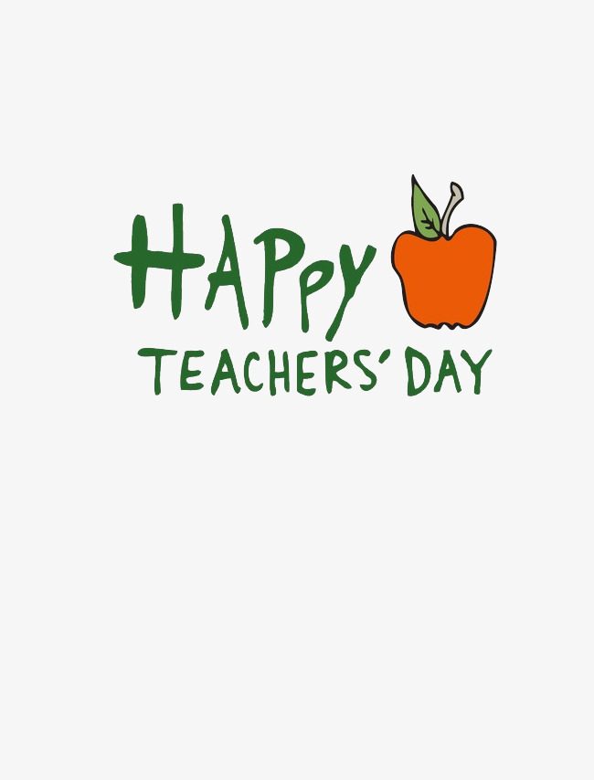 Happy Teacher's Day!, Teacher\'s Day, Word Art, Festival PNG and PSD ...