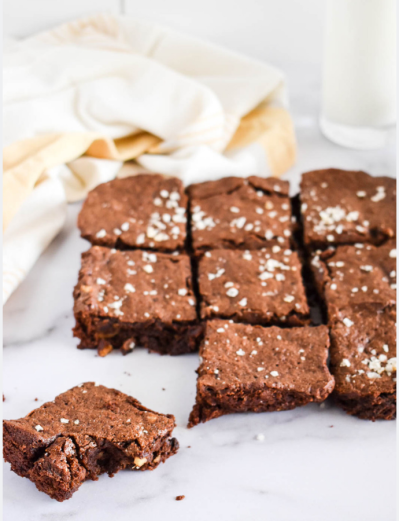 Vanilla Sea Salt Brownies with Walnuts - Wonder & Charm