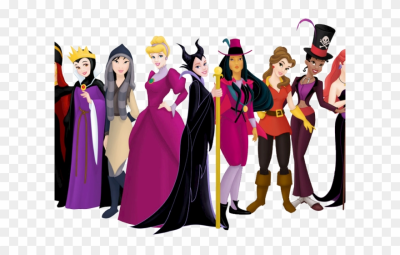 Disney Princesses Clipart Clip Art - Disney Villains Costume - Png ...