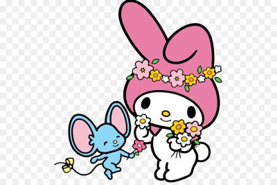 My Melody Hello Kitty Drawing - my melody png download - 555*600 ...