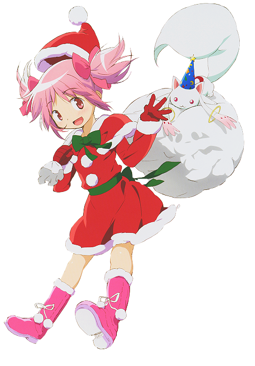 ishileon: transparent madoka and kyuubey for your blog!! happy ...