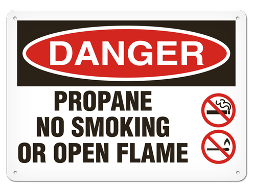 DANGER - Propane No Smoking Or Open Flame
