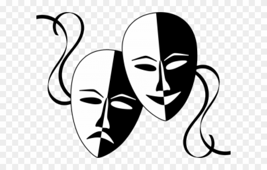 Masks Free Download Clip Art Carwad Net - Black And White Theater ...