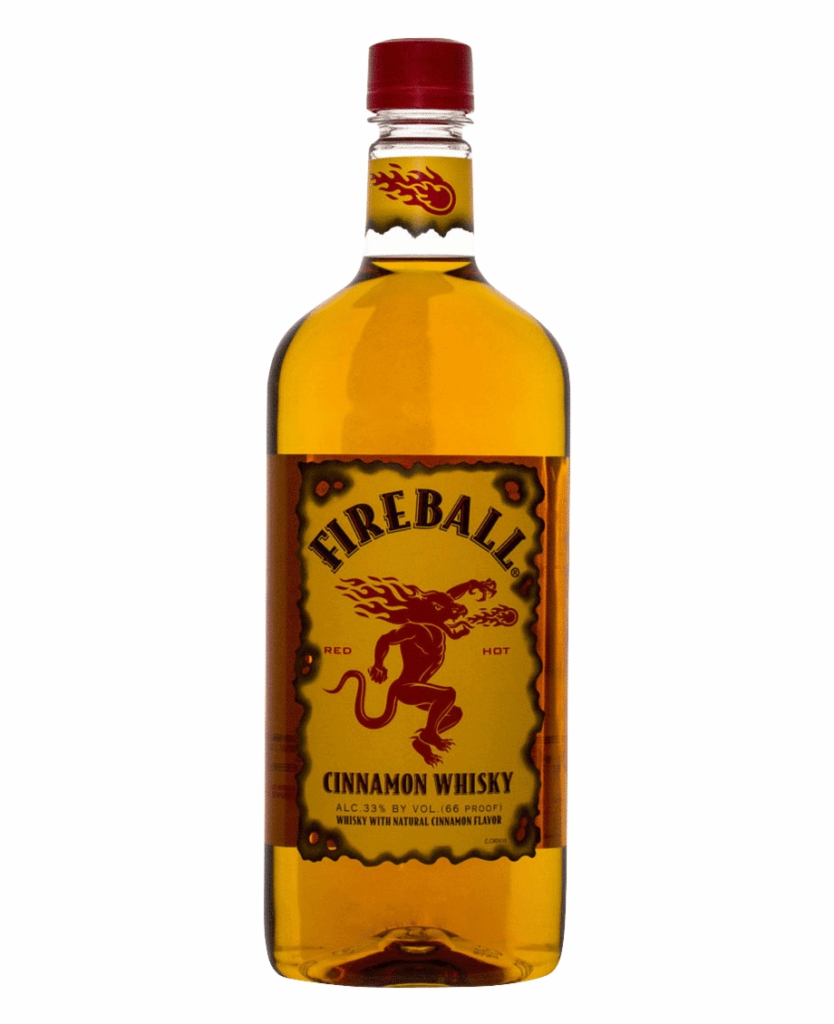 Fireball Cinnamon Whiskey - Fireball Whiskey Png, Transparent Png ...