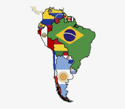 Flag Map Of South America Plus Flag Maps From Around - Latin ...