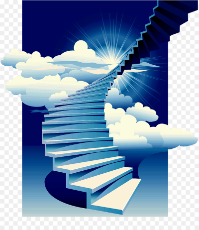 Stairs Stairway to Heaven Building Clip art - Decorative ...