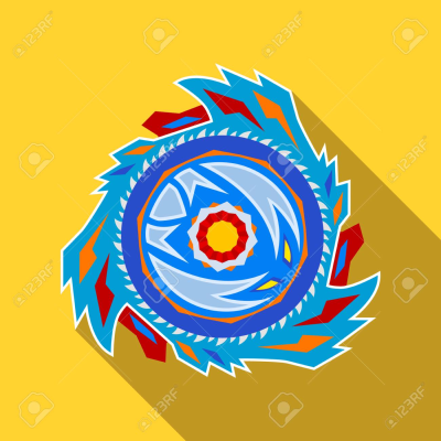 Collective Image Of A Children's Popular Toy Beyblade. Icon In ...