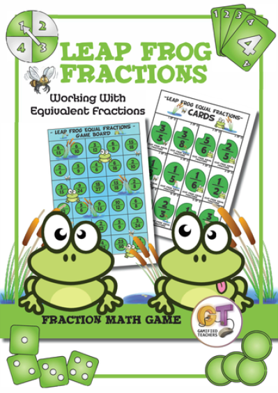 Math Game - Leap Frog Equal Fractions by 2NomadicTeachers - Teaching ...