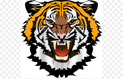Bengal tiger Cat South China tiger Roar Clip art - Tiger Head ...