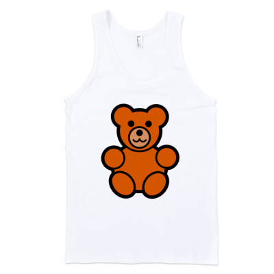 Teddy Bear Fine Jersey Tank Top Unisex by iTEE.com