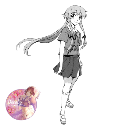 Collection of free Manga transparent yuno gasai. Download on UI Ex