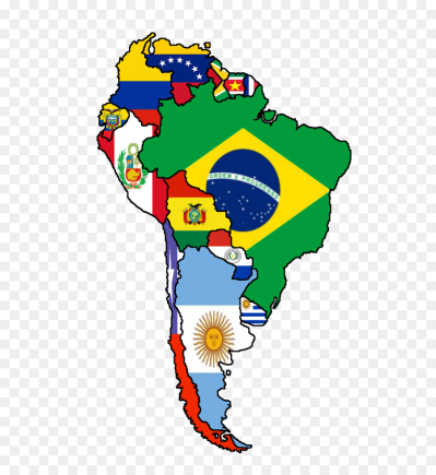 Flags of South America United States Latin America Map - Flags Of ...