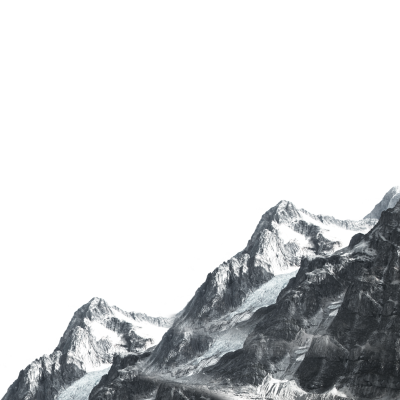 Poster Black and white - Posters Decorative mountains in the ...