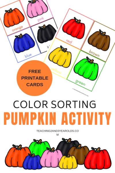Free Pumpkin Color Sorting Printables | Posts from Teaching 2 and ...