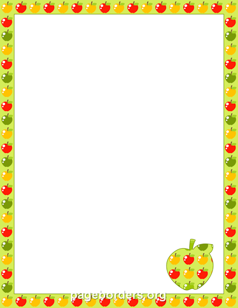 Apple Border | Projects to try | Pinterest | Page borders, Borders ...