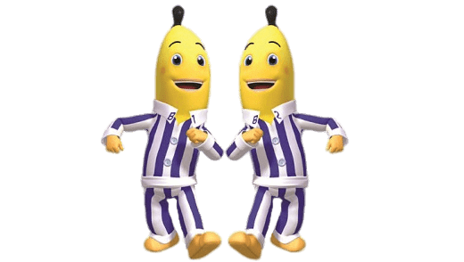 Bananas In Pyjamas Marching transparent PNG - StickPNG