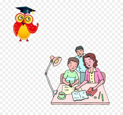 Student Homework Child Poster - Parents teaching png download ...