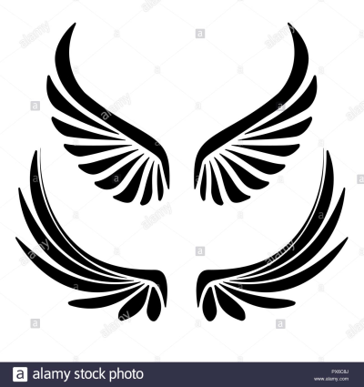 Two pair of decorative vector wings for your design Stock Vector ...