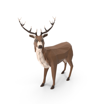 Low Poly Stag PNG Images & PSDs for Download | PixelSquid - S11119221C