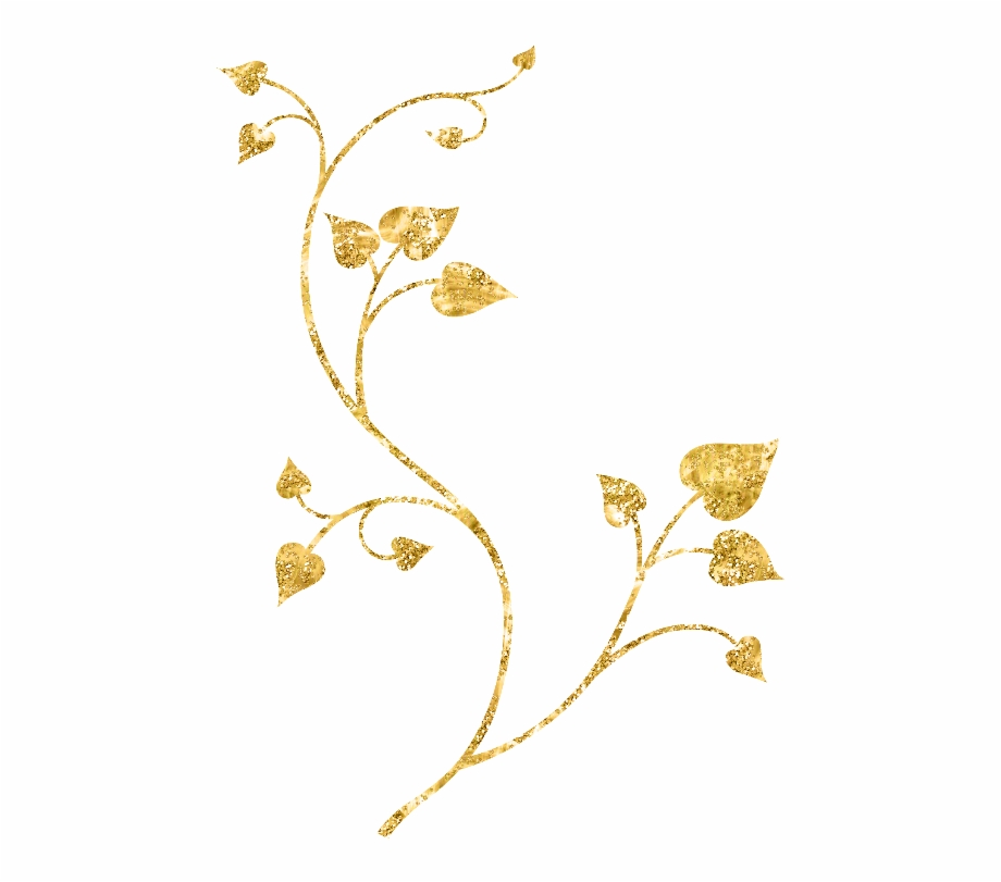 Ftestickers Fteglitter Golden Gold Leaves Branch - Gold Leaf ...