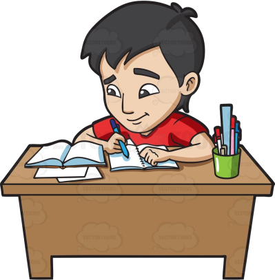 College Students Doing Homework Collection Studying Clipart Clip ...