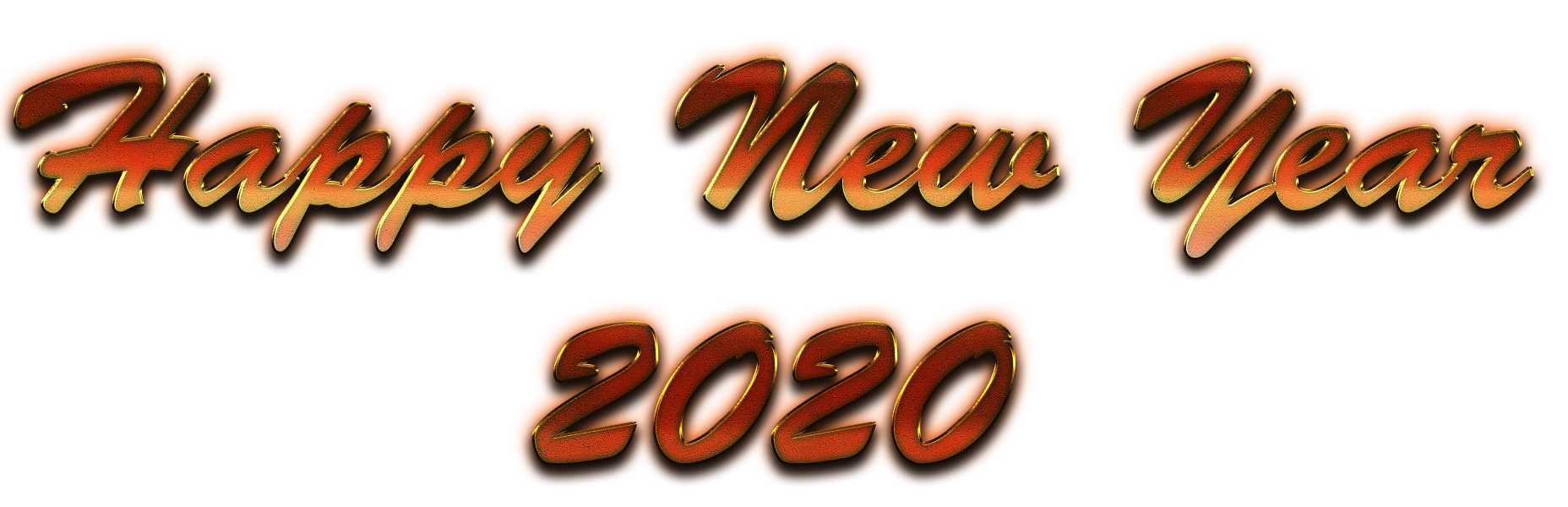 Happy New Year 2020 Transparent Image