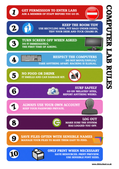 Computer Lab Rules Poster by clickschool - Teaching Resources - Tes