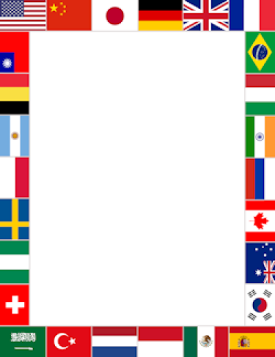 World Flags Border | Flags of the world, Borders for paper, Page ...