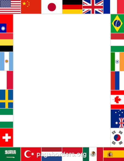 World Flags Border: Clip Art, Page Border, and Vector Graphics