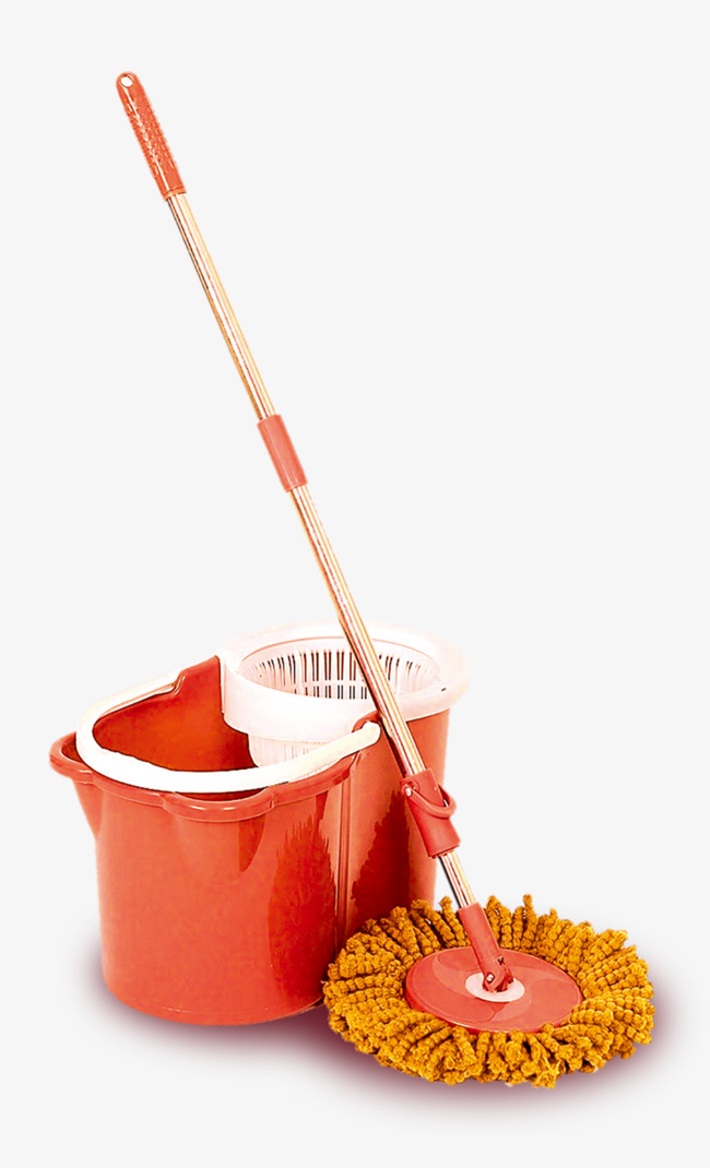 Household Mop Bucket, Red, Mop, Household Products PNG Transparent ...