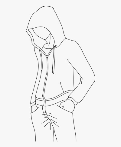 Outline For Hoodie Designs Drawing Base, Manga Drawing, - Anime ...