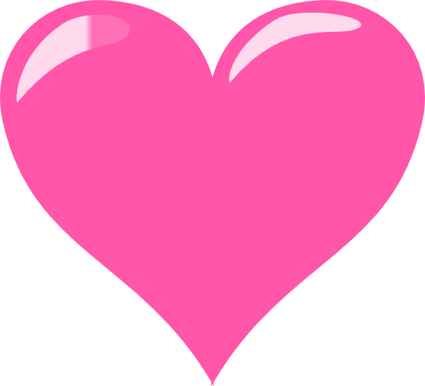 Hot Pink Heart Transparent & PNG Clipart Free Download - YWD